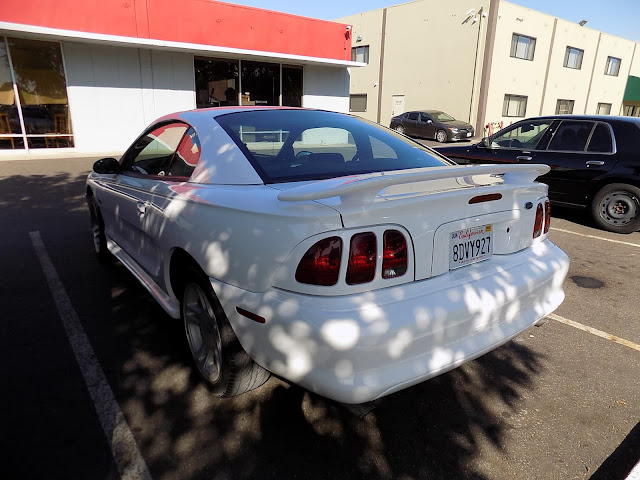 Overall paint job on 1998 Ford Mustang at Almost Everything Auto Body.