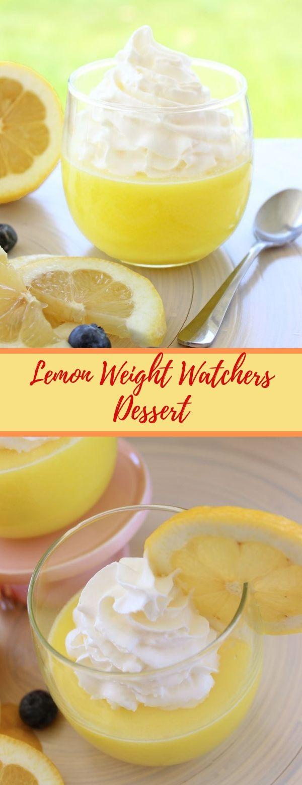 Lemon Weight Watchers Dessert #lemon #weightwatchers #desserts #nobake