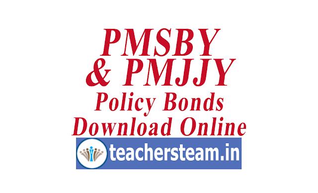 Download PMSBY/PMJJBY Insurance Policy Bonds
