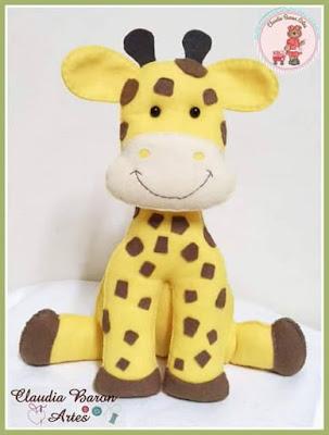 """alt=""""molde de girafa em feltro"""""""