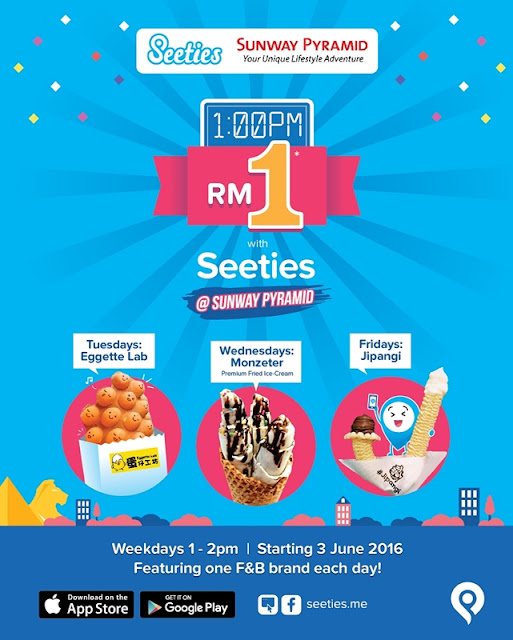 RM1 Seeties Campaign @ Sunway Pyramid, Eggette Lab, Monzeter ice cream, jipangi ice cream