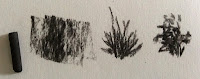 Daler Rowney willow charcoals - strokes created by it.