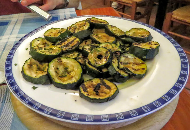Sicilian Food - grilled zucchini / courgettes