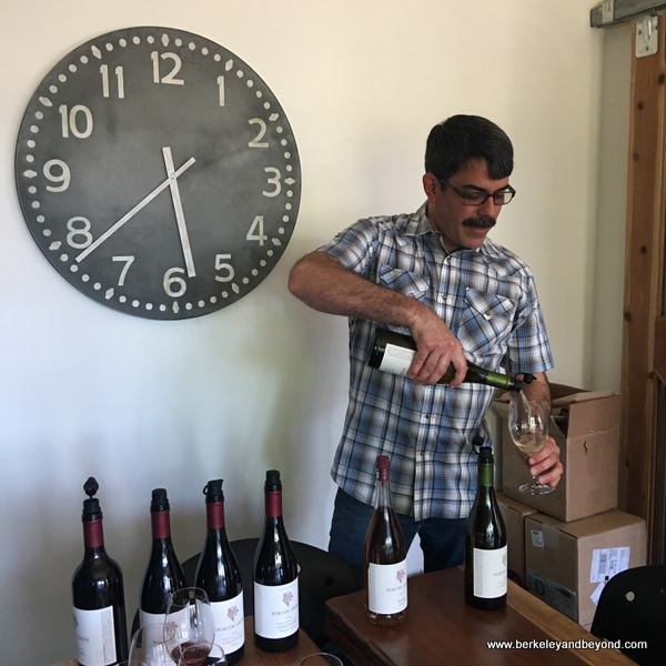 tasting at Porter Creek Vineyards in Healdsburg, California