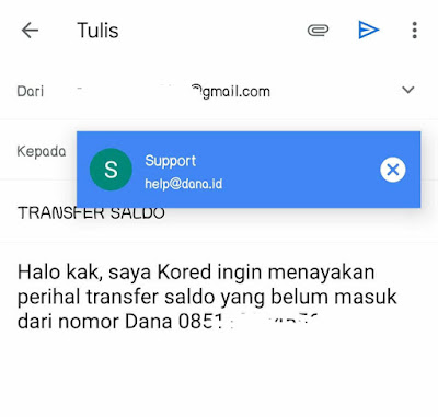 Menghubungi Customer Service DANA via Email