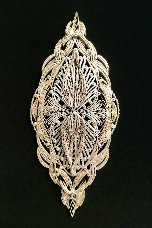ornate quilled ornament