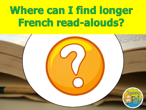 Image says Where can I find longer French read alouds?