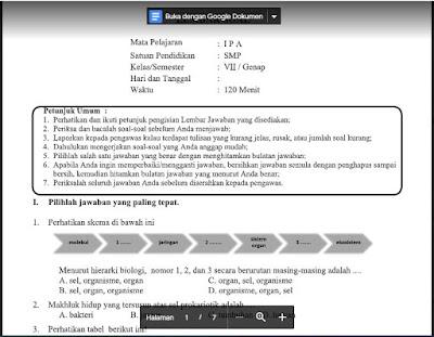 Soal dan Kunci Jawaban PAT Ilmu Pengetahuan Alam Kelas 7 Kurikulum 2013