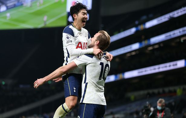 Heung-Min Son and  Harry Kane  goalscorers