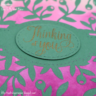 close-up card created with Olive Branches Background & Distress Oxide™ Inks