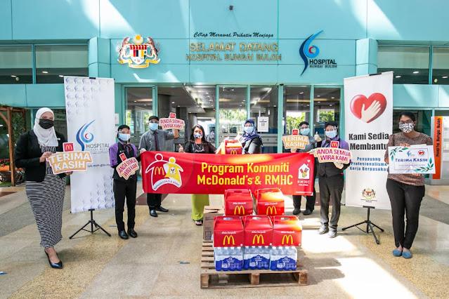McDonald's Malaysia Taja Makanan Frontliners Hospital Sungai Buloh