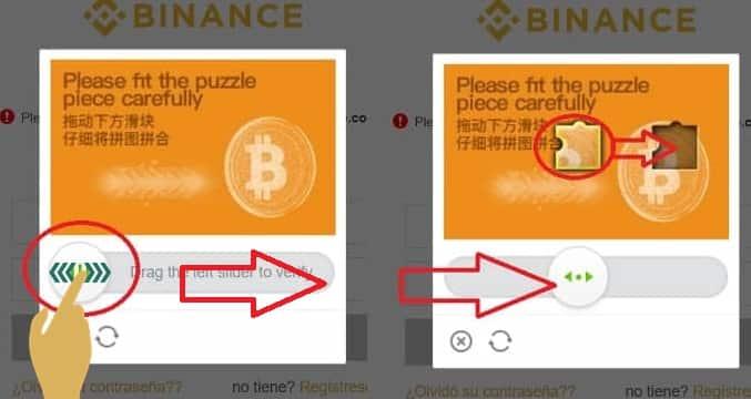abrir binance resolver puzzle prueba