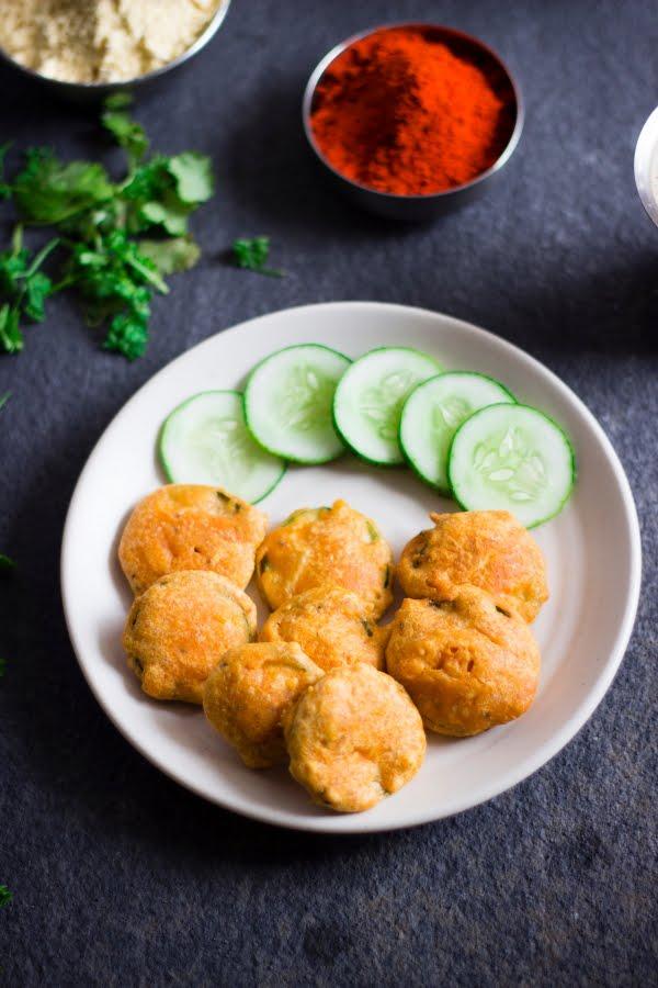 Cucumber pakoda fritter sautekayee bonda khira khire kakdi