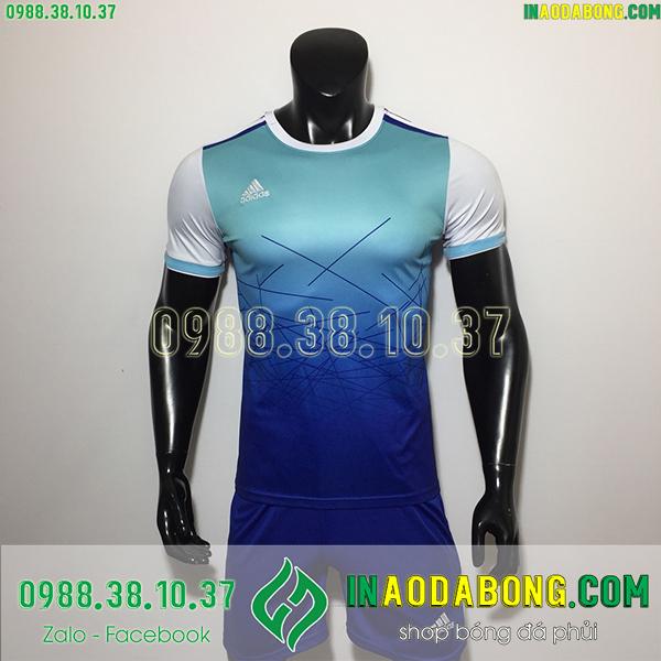 Áo không logo adidas Dyba màu xanh