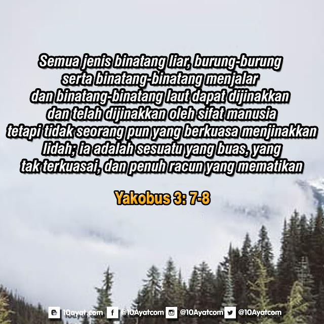 Yakobus 3: 7-8