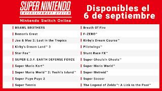 lista de juegos super nintendo switch online