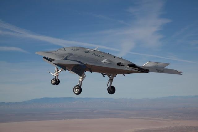 Northrop Grumman X-47B Combat UAV Inflight