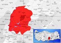 Ekinözü ilçesinin nerede olduğunu gösteren harita