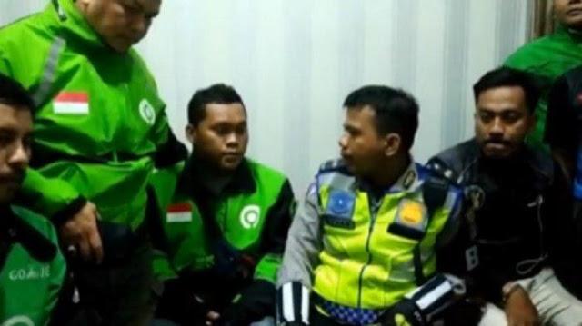 Polisi yang Tendang Driver Ojol Dimutasi
