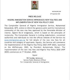 See New Visa Policy