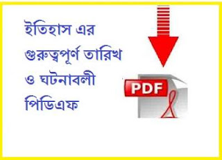 Important Dates in Indian History Pdf in Bengali