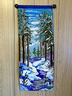 "quickpoint wall hanging, ""Spring Thaw"""