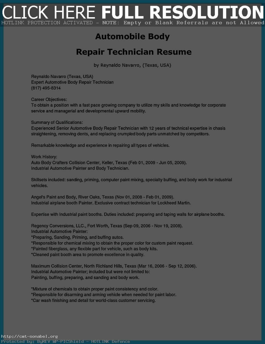 auto body technician resume auto body technician resume objective auto body technician resume example auto body paint technician resume auto body repair technician resume resume templates for auto body technician auto body technician job description for resume sample resume for auto body technician resume objective