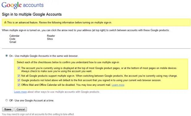 كيفية تسجيل الدخول إلى حسابات بريد جوجل متعددة في نفس الوقت عن طريق تمكين ميزة تسجيل الدخول المتعدد