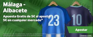 betway Apuesta 5 y llévate 5 Malaga vs Albacete 12 octubre