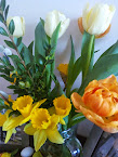 Dziś na moim stole...wiosennie