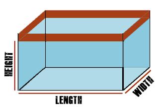 Calculate volume of fish tank