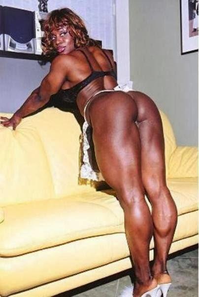 Mulheres negras musculosas nuas
