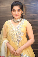 Nivetha Thamos in bright yellow dress at Ninnu Kori pre release function ~  Exclusive (65).JPG
