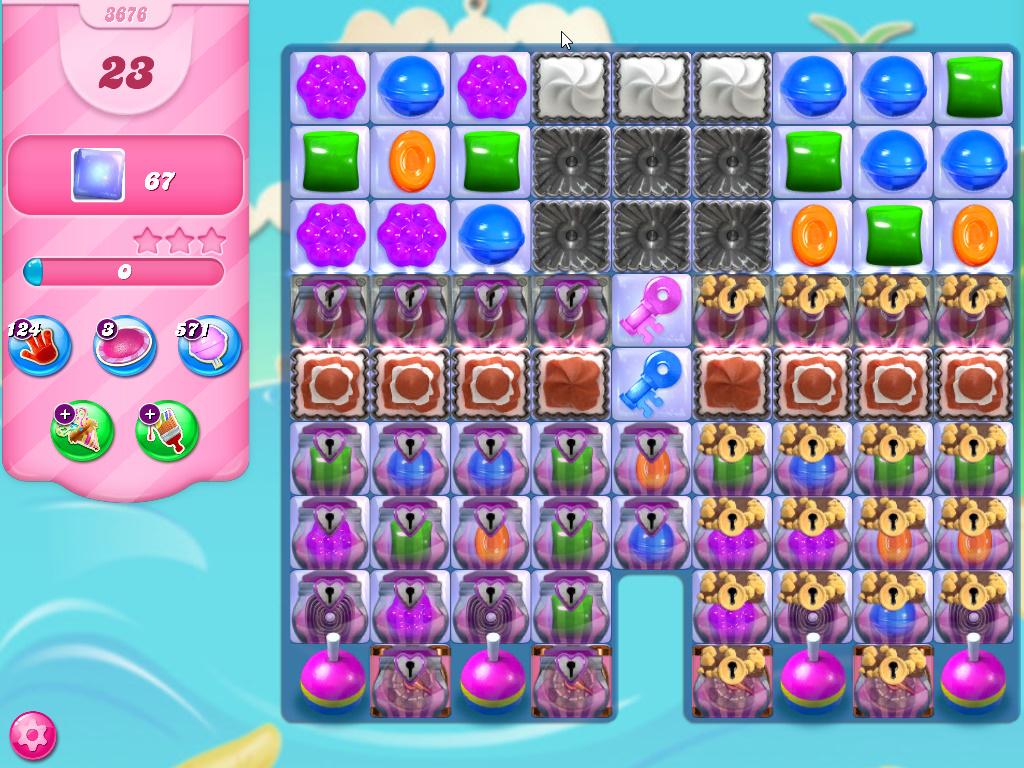 Candy Crush Saga level 3676