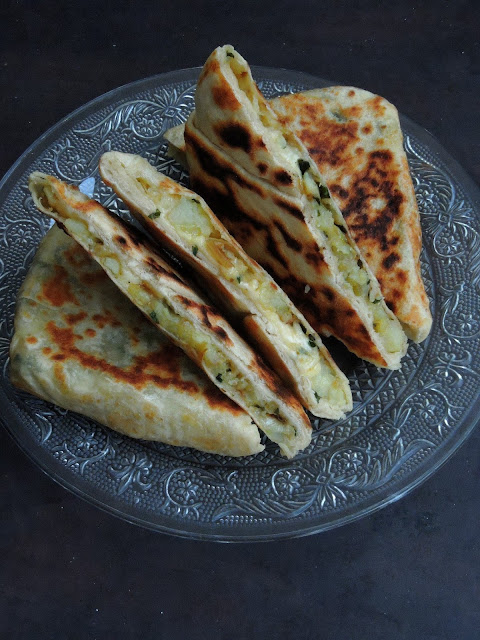 Patatesli Gozleme, Turkish Potato Cheese Gozleme