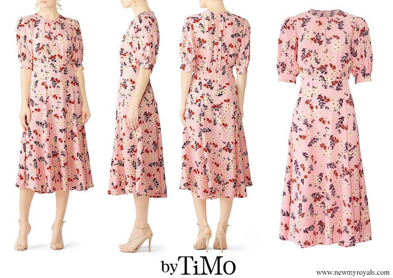 Crown Princess Victoria wore a new floral print dress from byTiMo