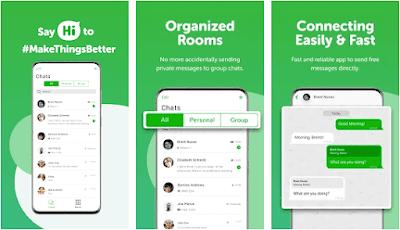 Aplikasi HiApp pengganti whatsapp