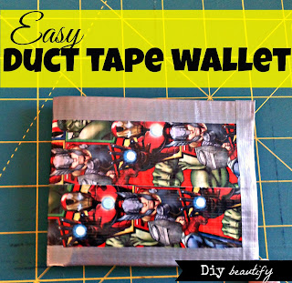 Duct Tape Wallets www.diybeautify.com