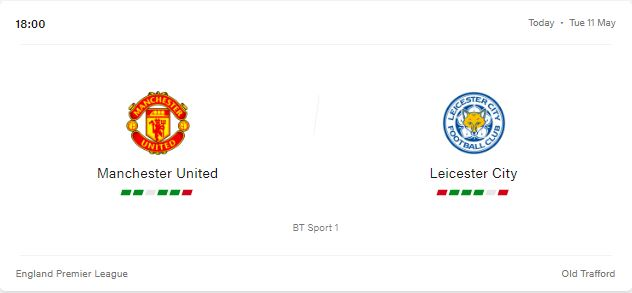 Manchester United vs Leicester City Livestream, Preview and Prediction 2021