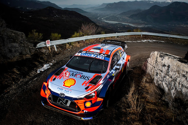 Hyundai Motorsport Rally Car on Monte Carlo Rally