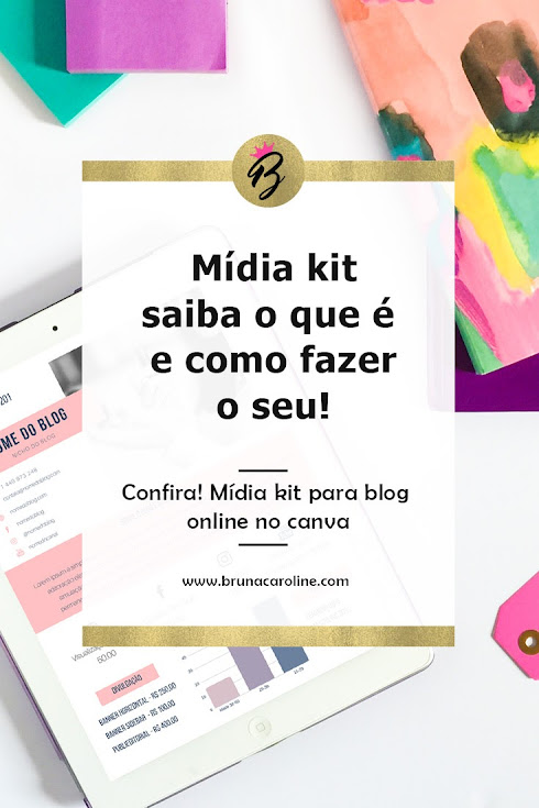 Mídia kit para blog - Online no Canva
