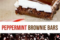 Chocolate Peppermint Brownie Bars Recipe