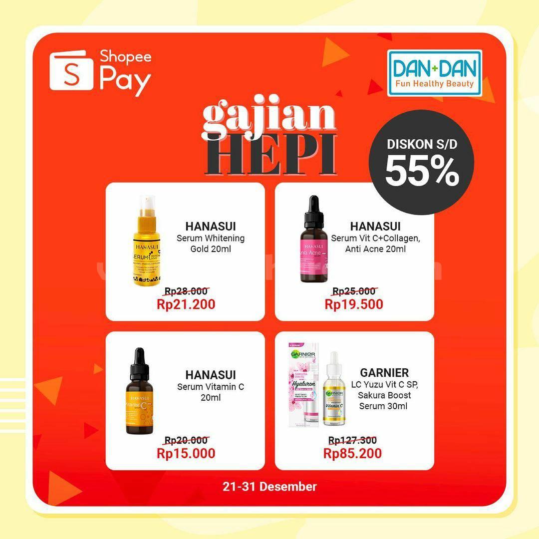 Dan+Dan Promo Gajian Hepi Diskon 55% Pakai ShopeePay