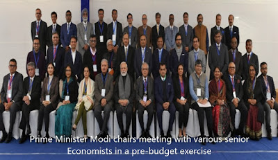 Prime Minister Modi chairs meeting with various senior Economists in a pre-budget exercise