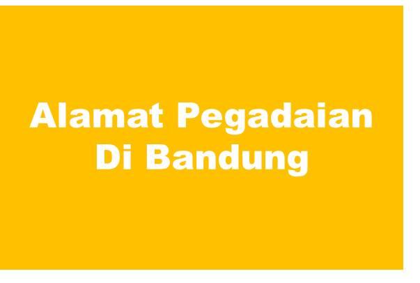 Alamat PT Pegadaian Di Bandung