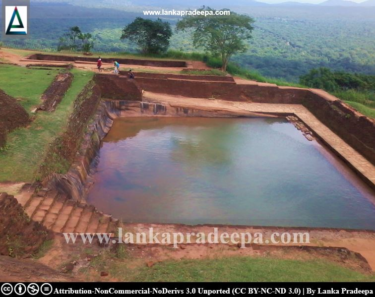 Ponds on the summit of the Sigiriya rock