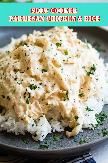 #SLOW #COOKER #PARMESAN #CHICKEN & #RICE