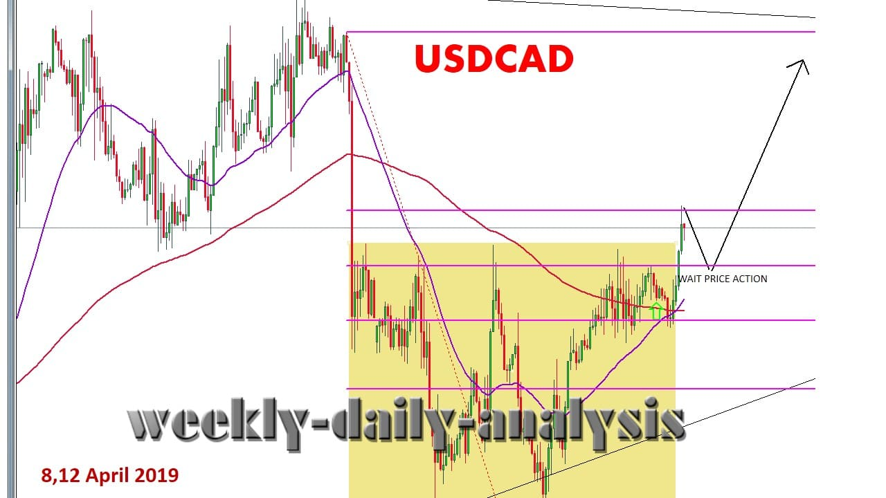 Technical Analysis USDCAD 8,12 April 2019