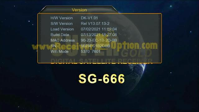 SUPERGOLD SG-666 1507G 1G 8M NEW SOFTWARE 13 JULY 2021