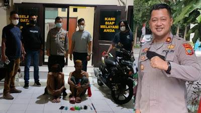 Tiga Remaja Di Tangkap Tim Resmob Polsek Matuari dan Unit I Jatanras Polres Bitung